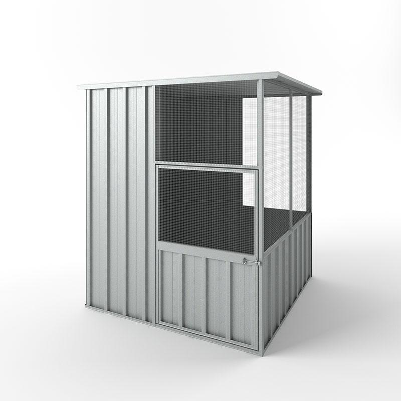 Bird Aviary 1.50m x 1.50m x 1.80m / Zinc - Best Sheds Online