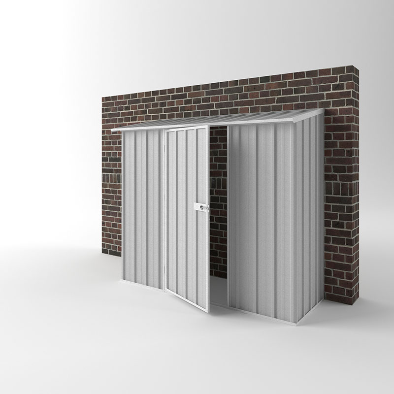 Off The Wall Sheds 2 25m X 0 78m X 1 80m Zinc Best